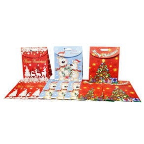 Large Foldover Holiday Gift Bags