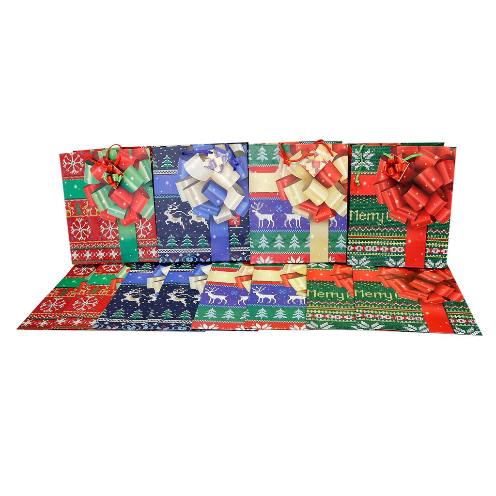 Large Holiday Presents Gift Bags