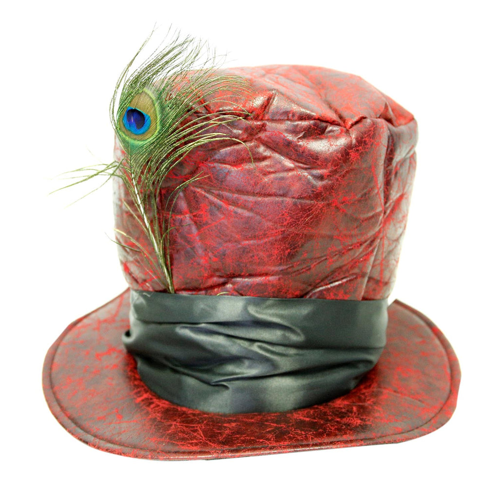 Red Mad Hatter Top Hat