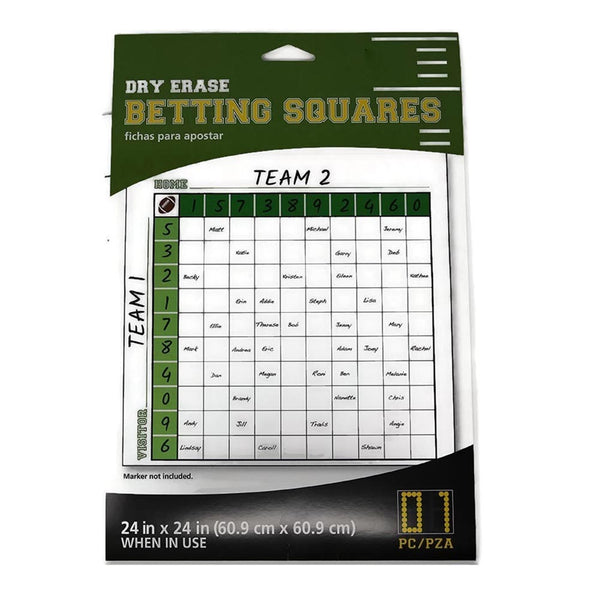 Dry Erase Betting Squares