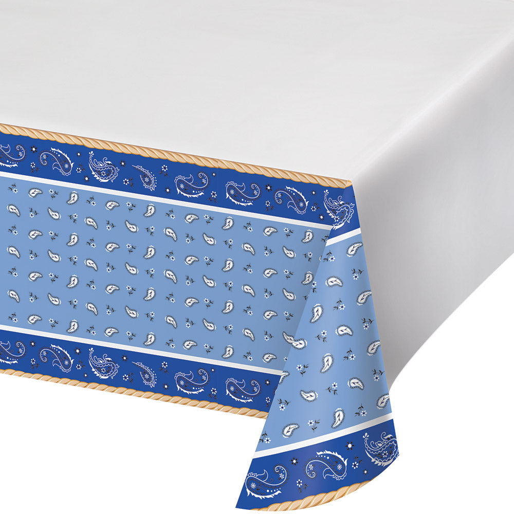 Blue Bandana Cowboy Table Cover