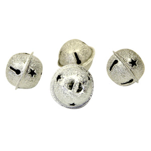 "1"" Embossed Silver Jingle Bells"