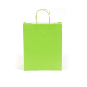 Narrow Medium Lime Green Gift Bags