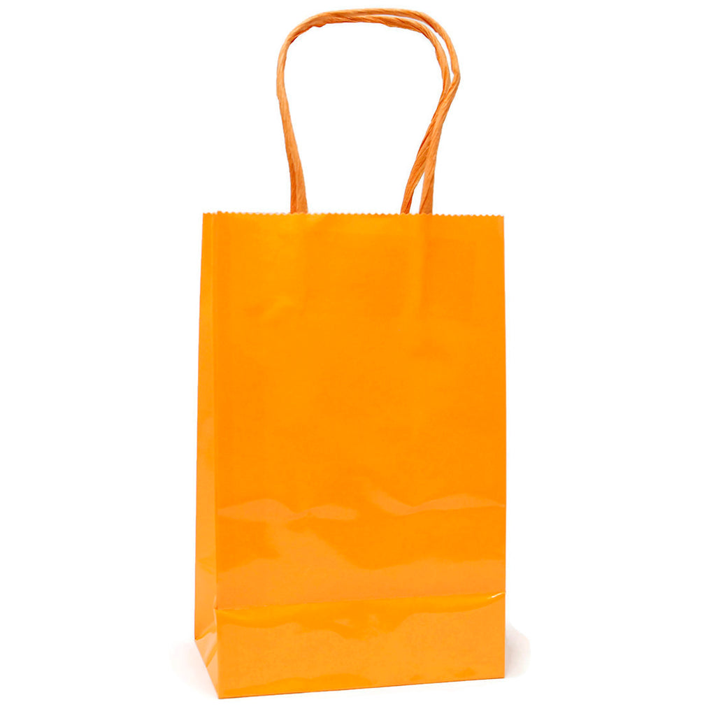 Narrow Medium Neon Orange Gift Bags