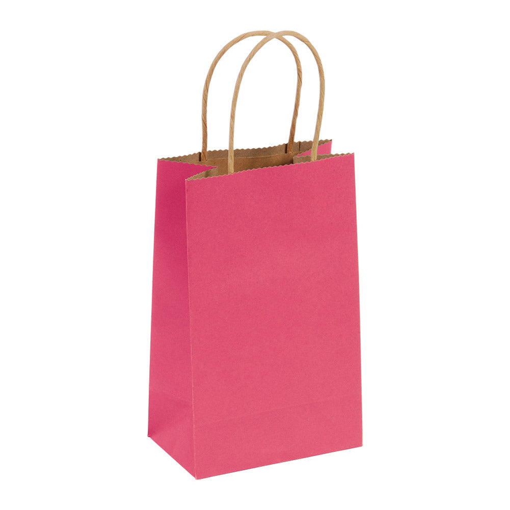 Narrow Medium Red Kraft Gift Bags
