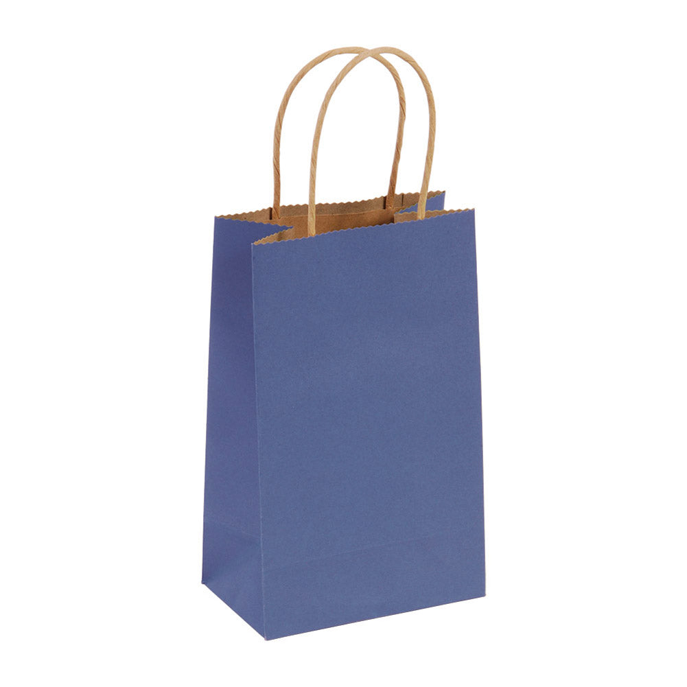 Narrow Medium Blue Kraft Gift Bags