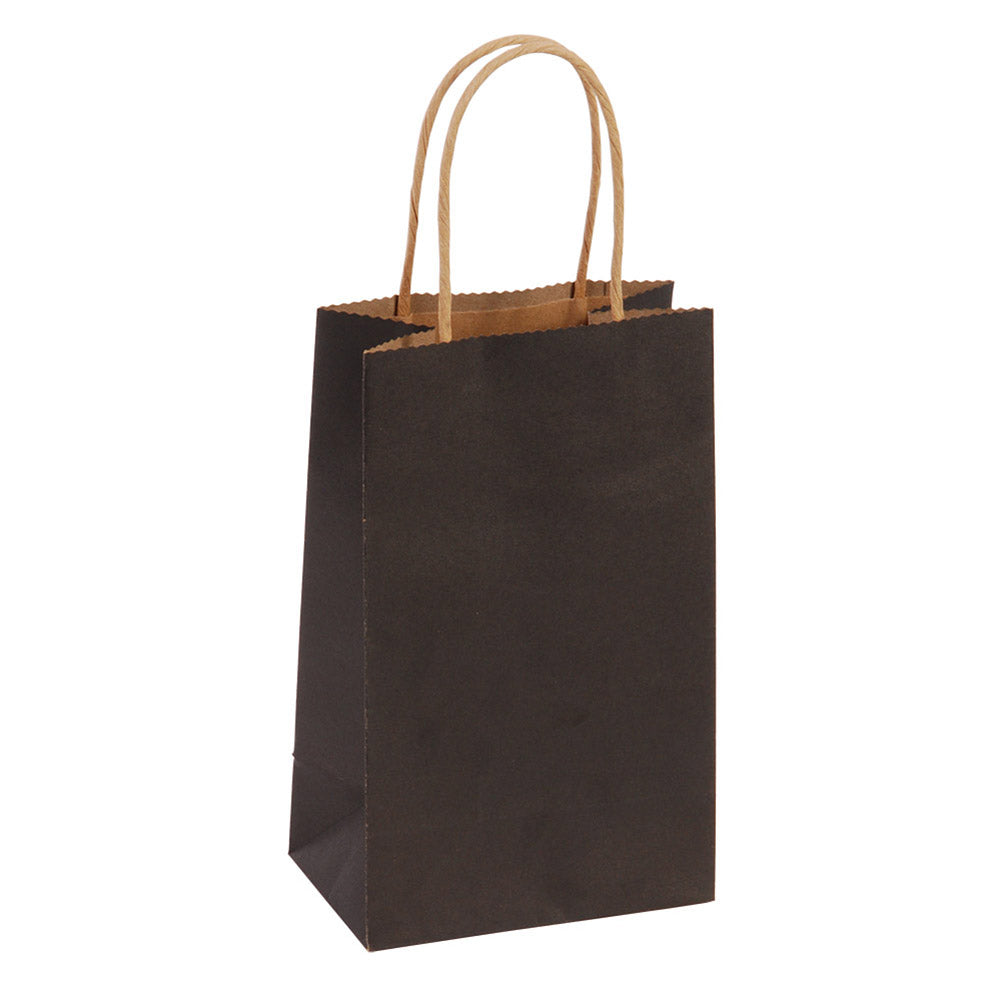 Narrow Medium Black Kraft Gift Bags