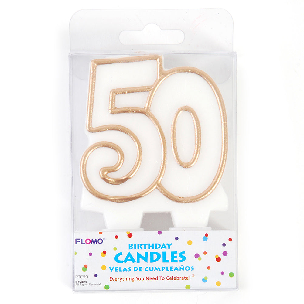 Gold 50 Candle
