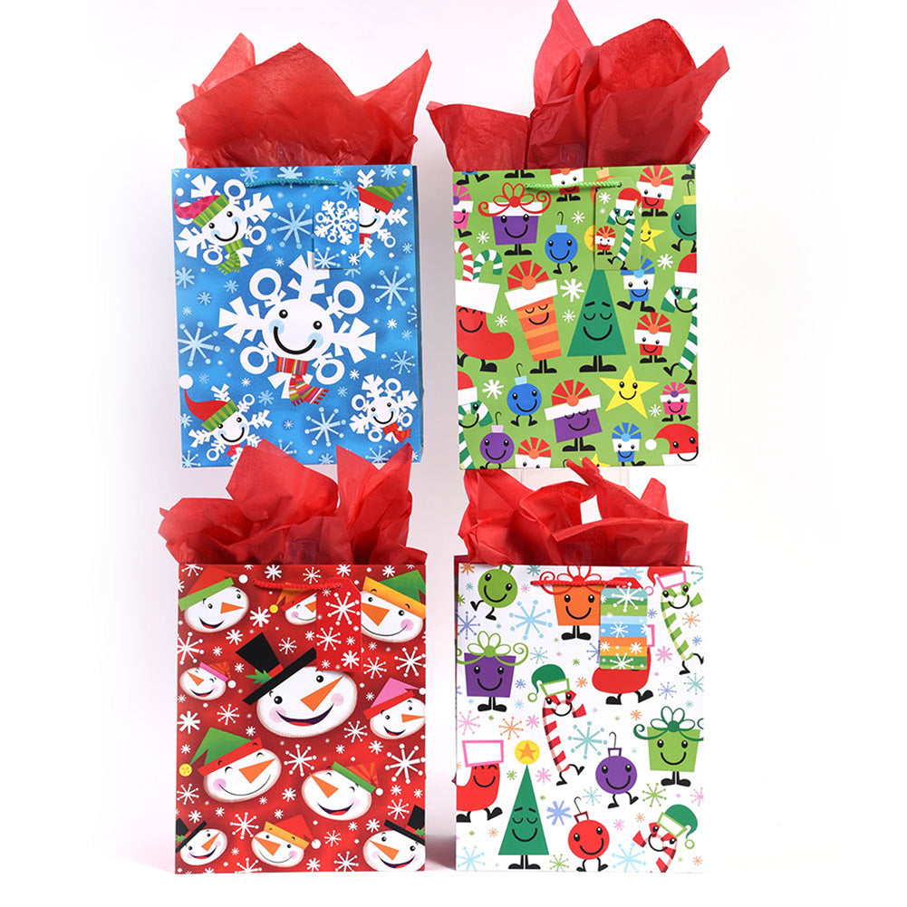 Large Snow Smiles Gift Bags