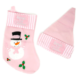 Baby Girl 1st Christmas Stocking and Hat