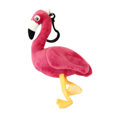Plush Flamingo Clip on
