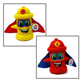 "7"" Fire Hydrant Plush Superhero"