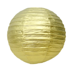 "12"" Metallic Gold Paper Lantern"