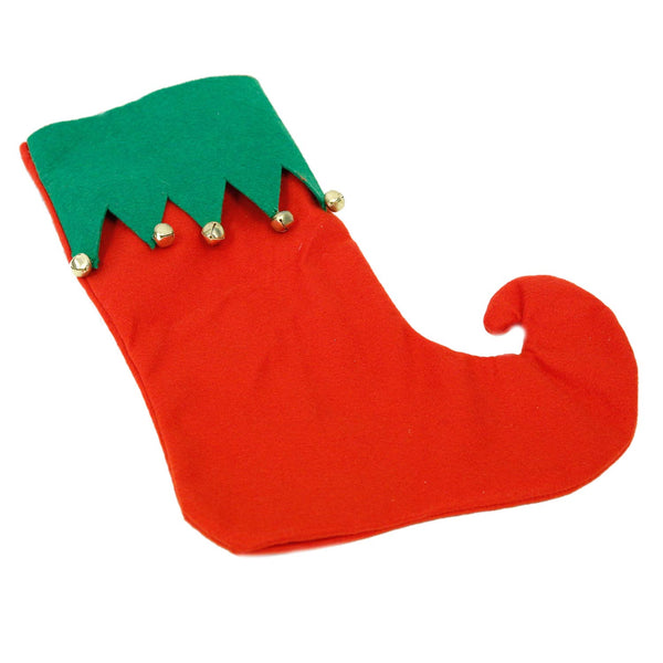 Felt Elf Stocking with Bells