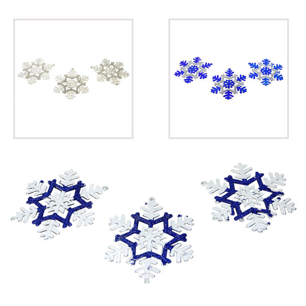Blue and Silver Snowflake Ornaments