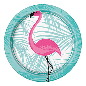 "Flamingo Party 7"" Plates"