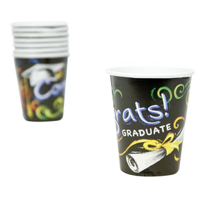 Chalkboard Graduation 9 oz. Cups