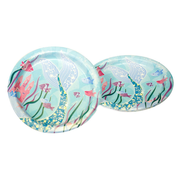 "Mermaid 7"" Plates"