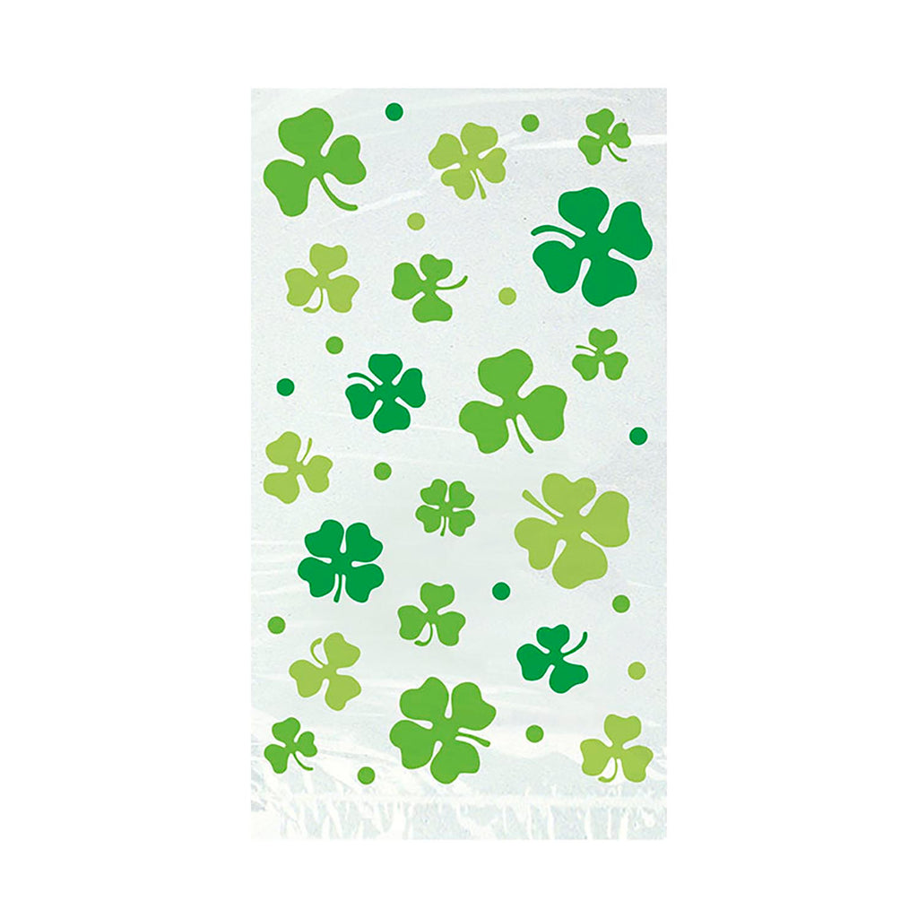 Lucky Shamrock Cello Treat Bags