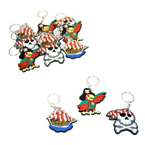 Pirate Rubber Keychains