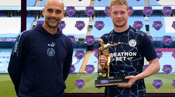 De Bruyne matches Henry as he wins Playmaker Award