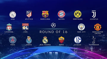 Who is in the Champions League round of 16?