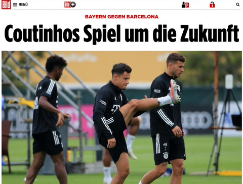"""Coutinho plays for his future"" Bild."