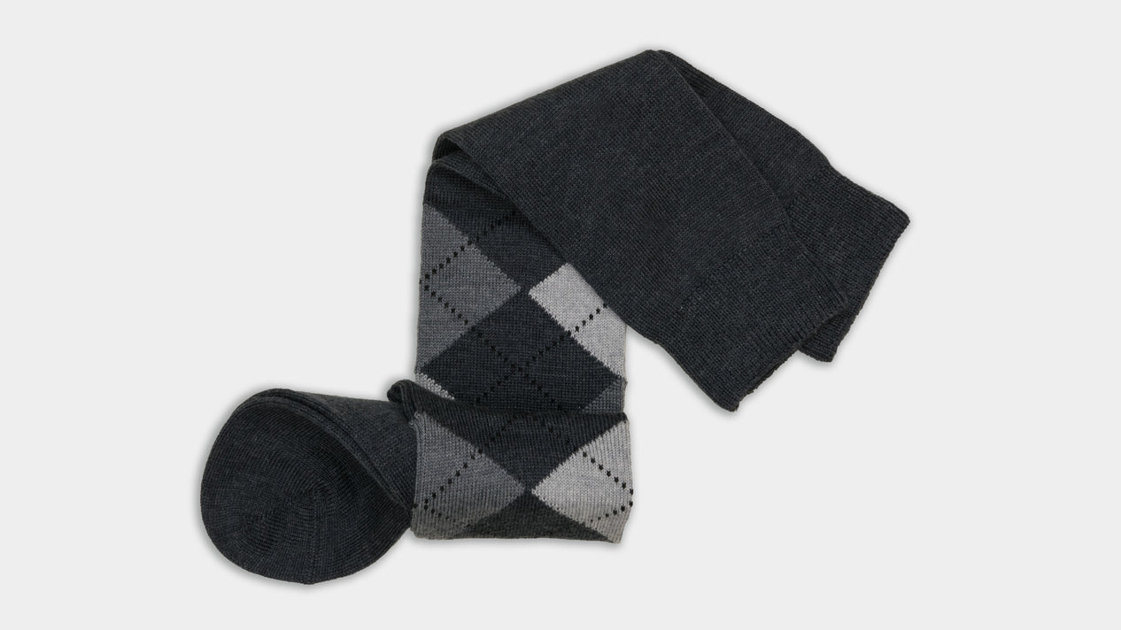 Velasca Bavaresa Dark and light grey rhombus pattern Wool