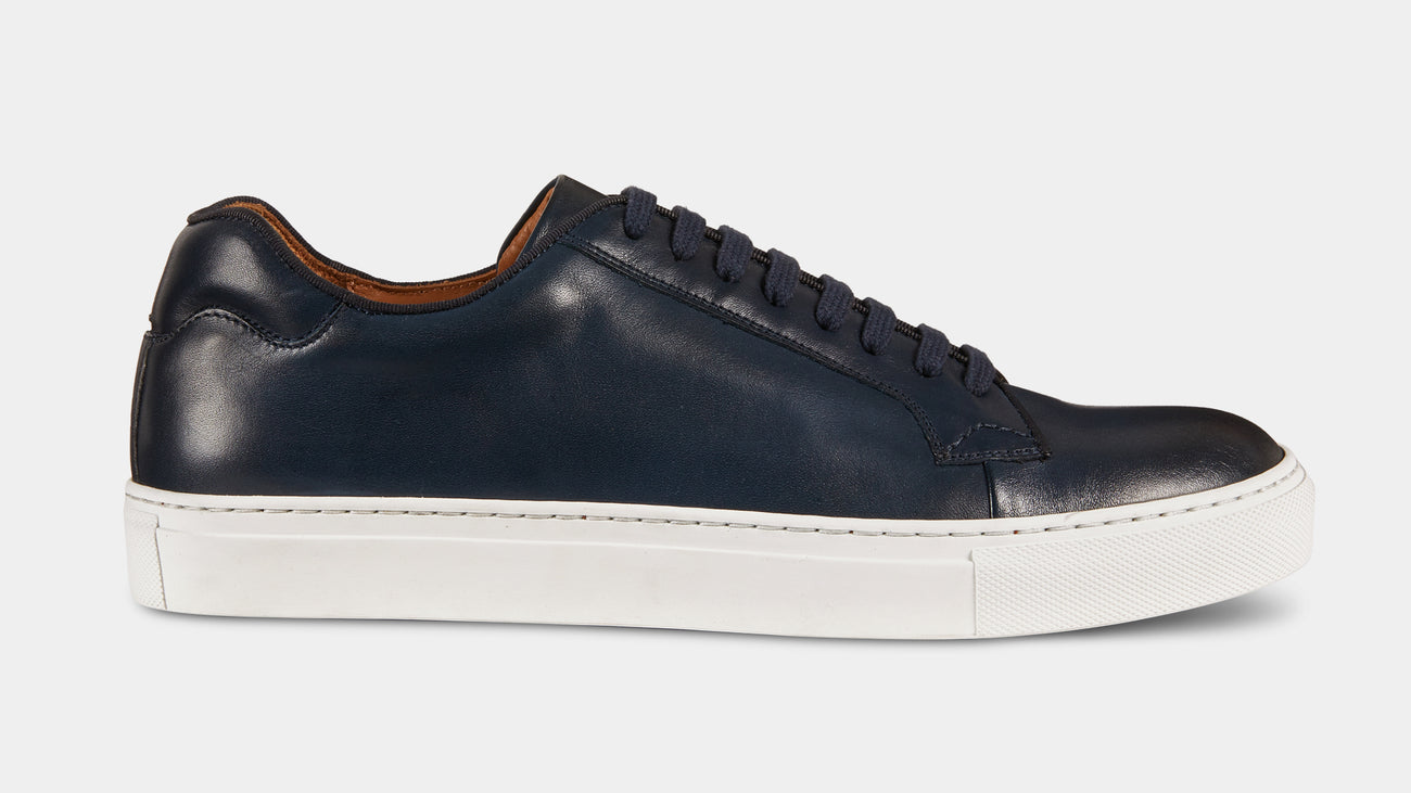 Velasca Athletics Belèratt Blue Full grain leather