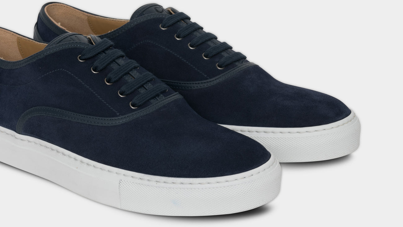 Velasca Athletics Caramelat Blue Suede leather