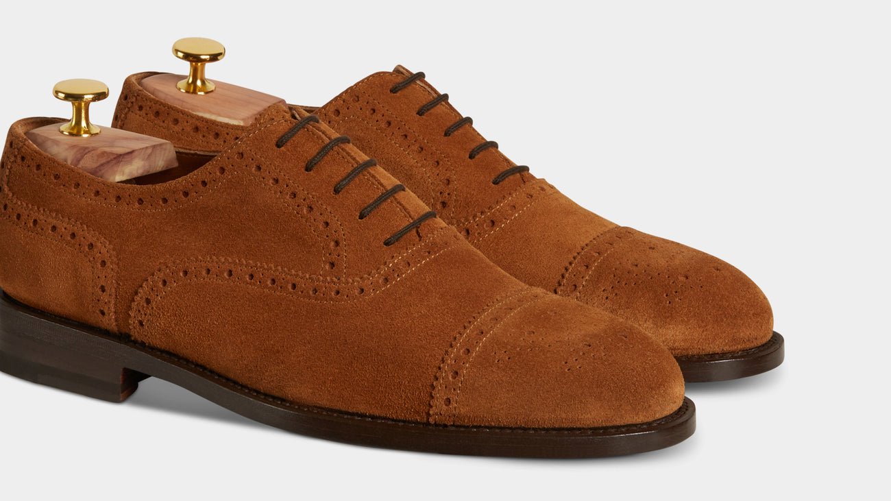 Velasca Cavadent Tobacco brown Suede leather