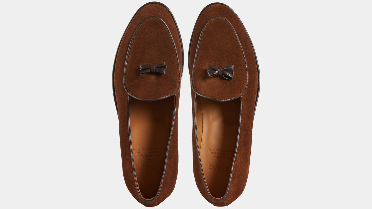Velasca Belgian Loafers Ciappacan Tobacco brown Suede leather