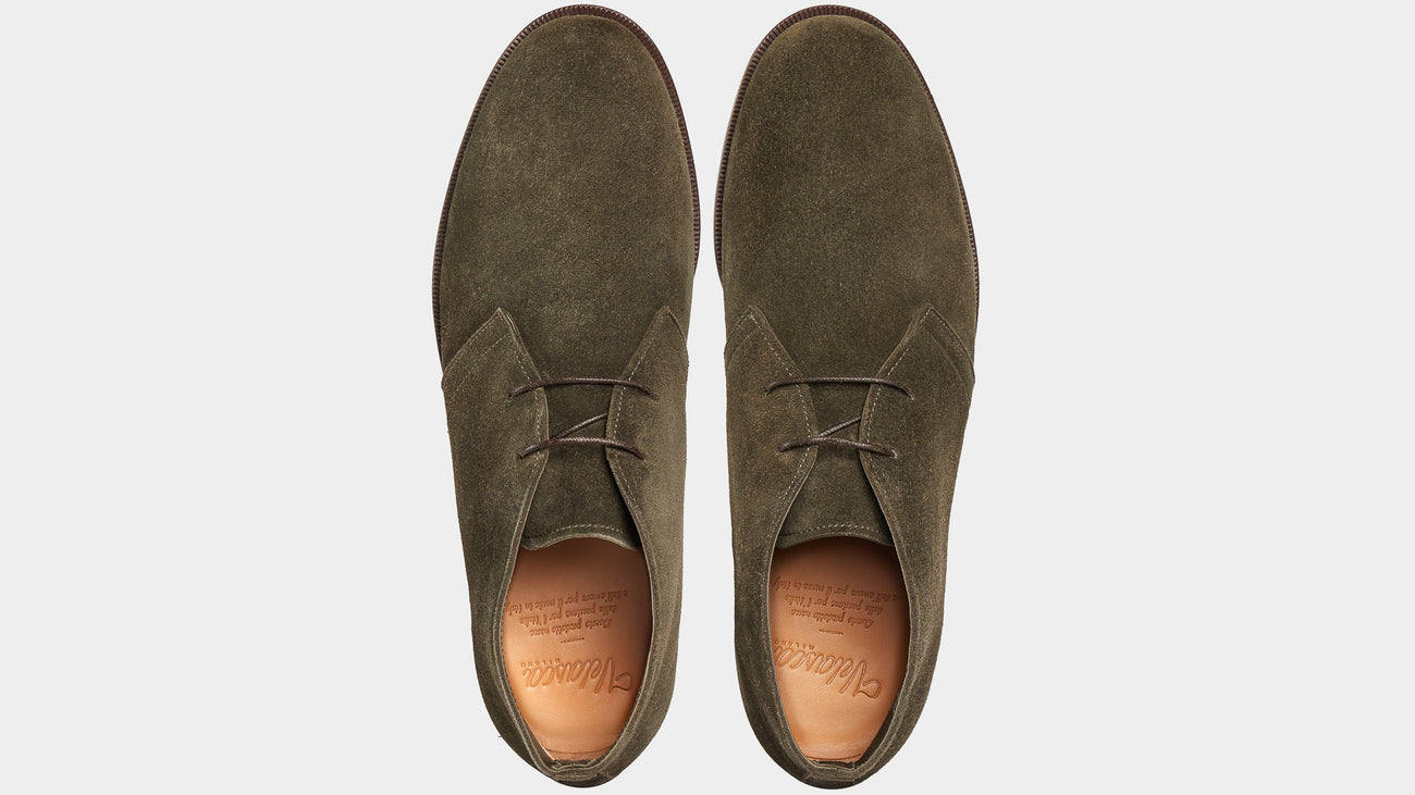 Velasca Ciapparatt Dark green Suede leather