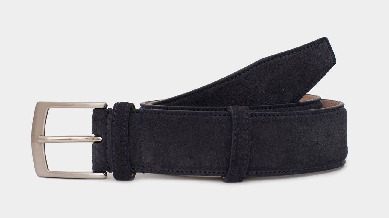 Velasca Belts Cinta Blue Suede leather
