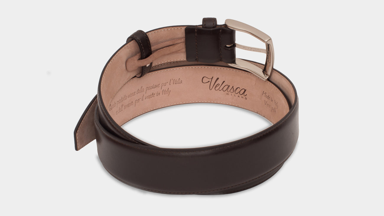 Velasca Belts Cinta Dark brown Smooth calf leather