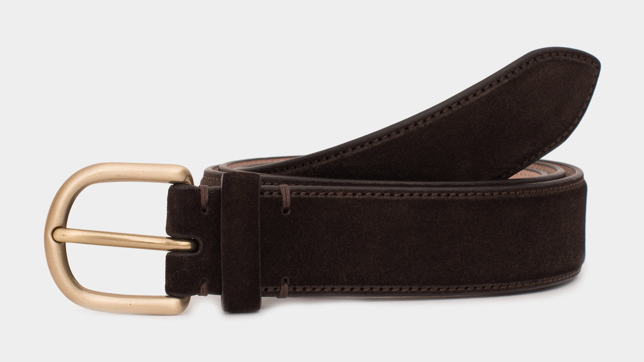 Velasca Belts Ciocch Dark brown Suede calf leather