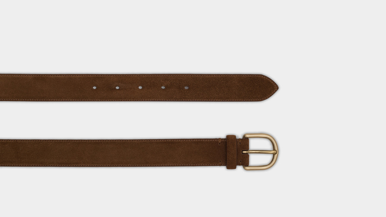 Velasca Belts Ciocch Tobacco brown Suede leather