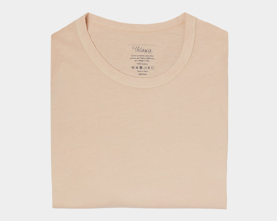 Velasca T-shirts Gugia Sand 100% cotton