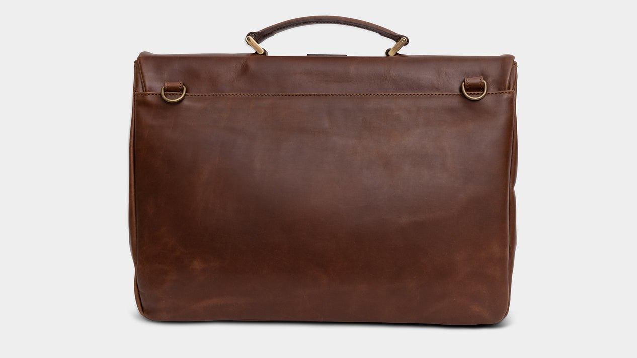 Velasca Bags Ravanà Brown Antiqued smooth calf leather