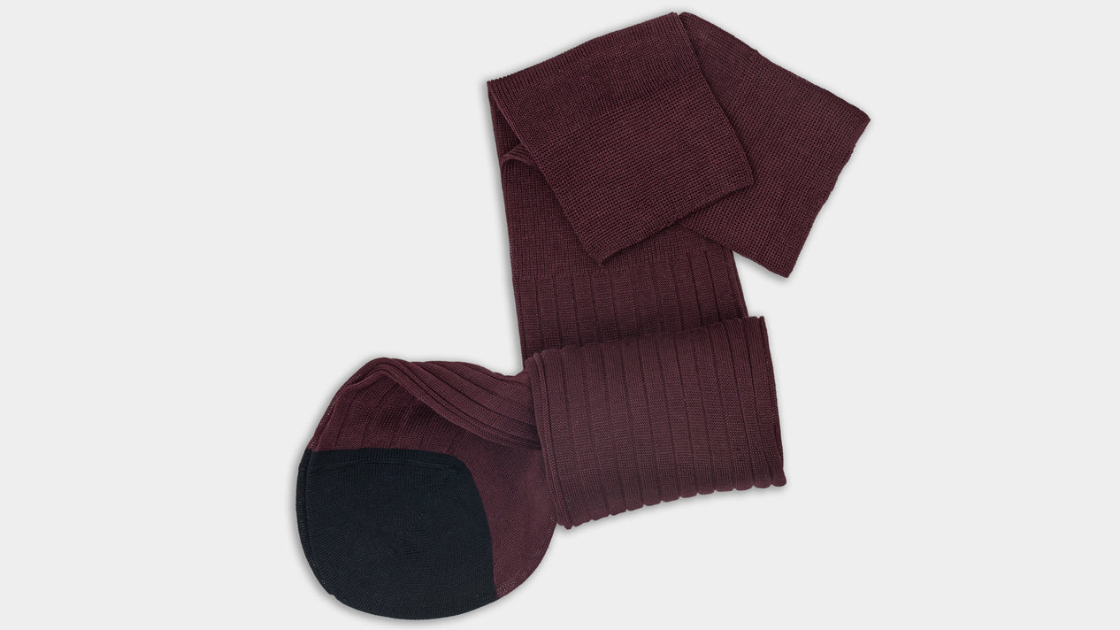 Velasca Scalfarott Bordeaux & blue Cotton