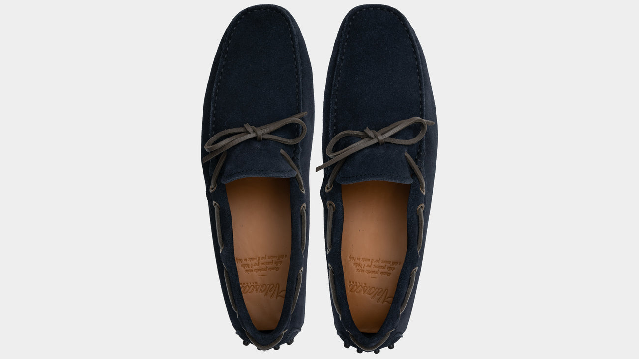 Velasca Moccasins Spesiè Blue Suede leather