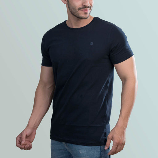 Navy Blue round neck t-shirt for men from turmswear
