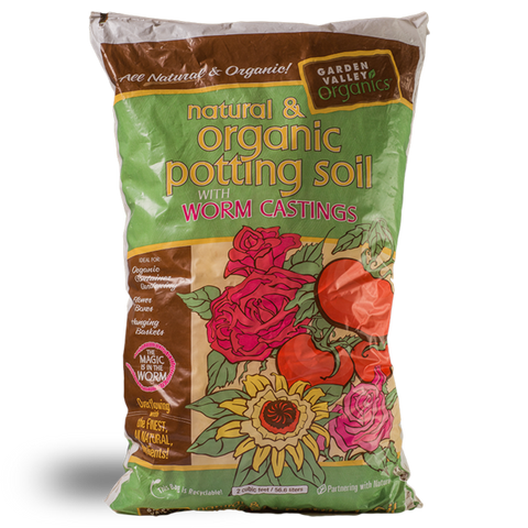 Garden Valley Organics Natural & Organic Potting Soil with Worm Castings