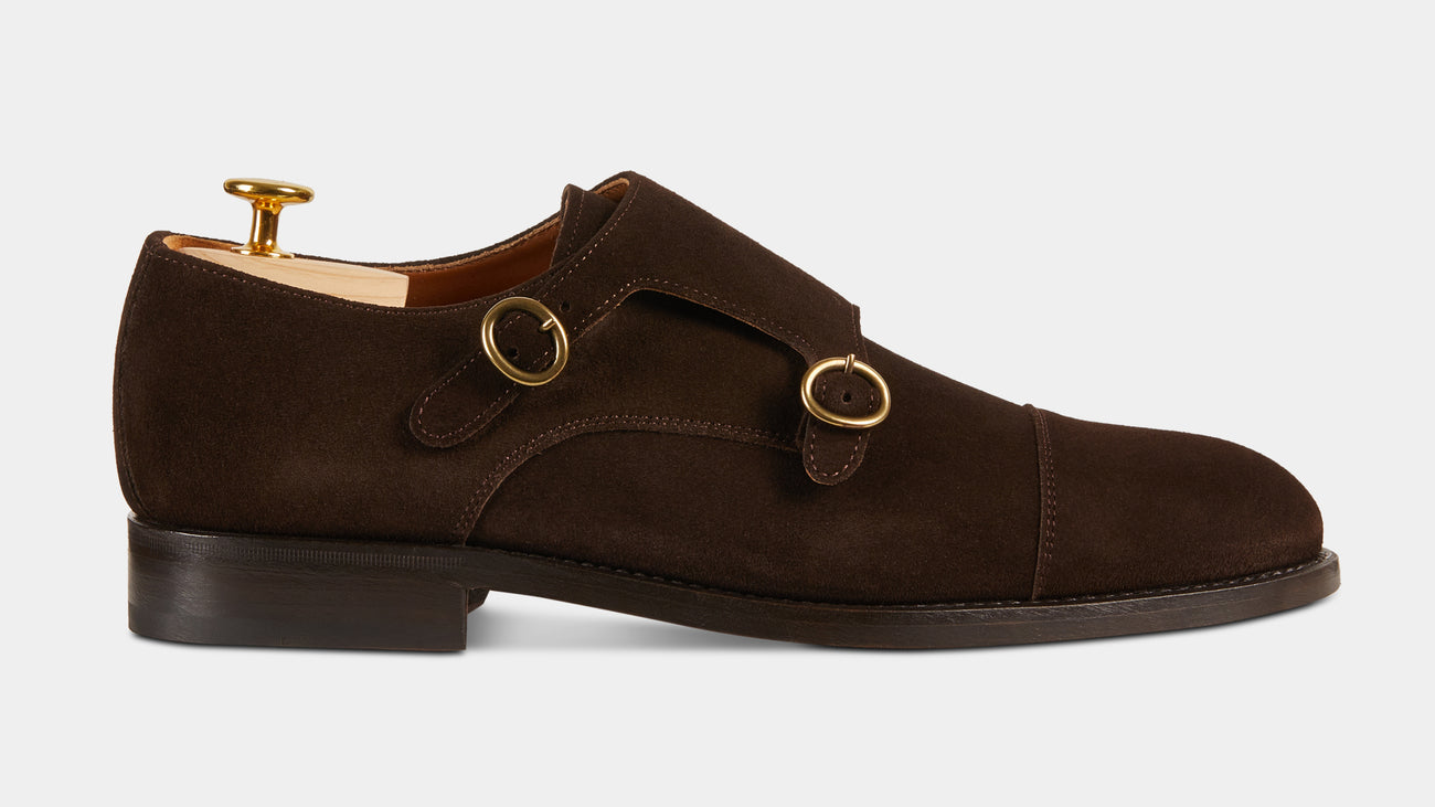 Velasca Castagnatt Dark brown Suede leather