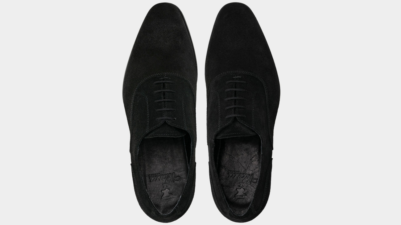 Velasca Cuda Black Suede leather
