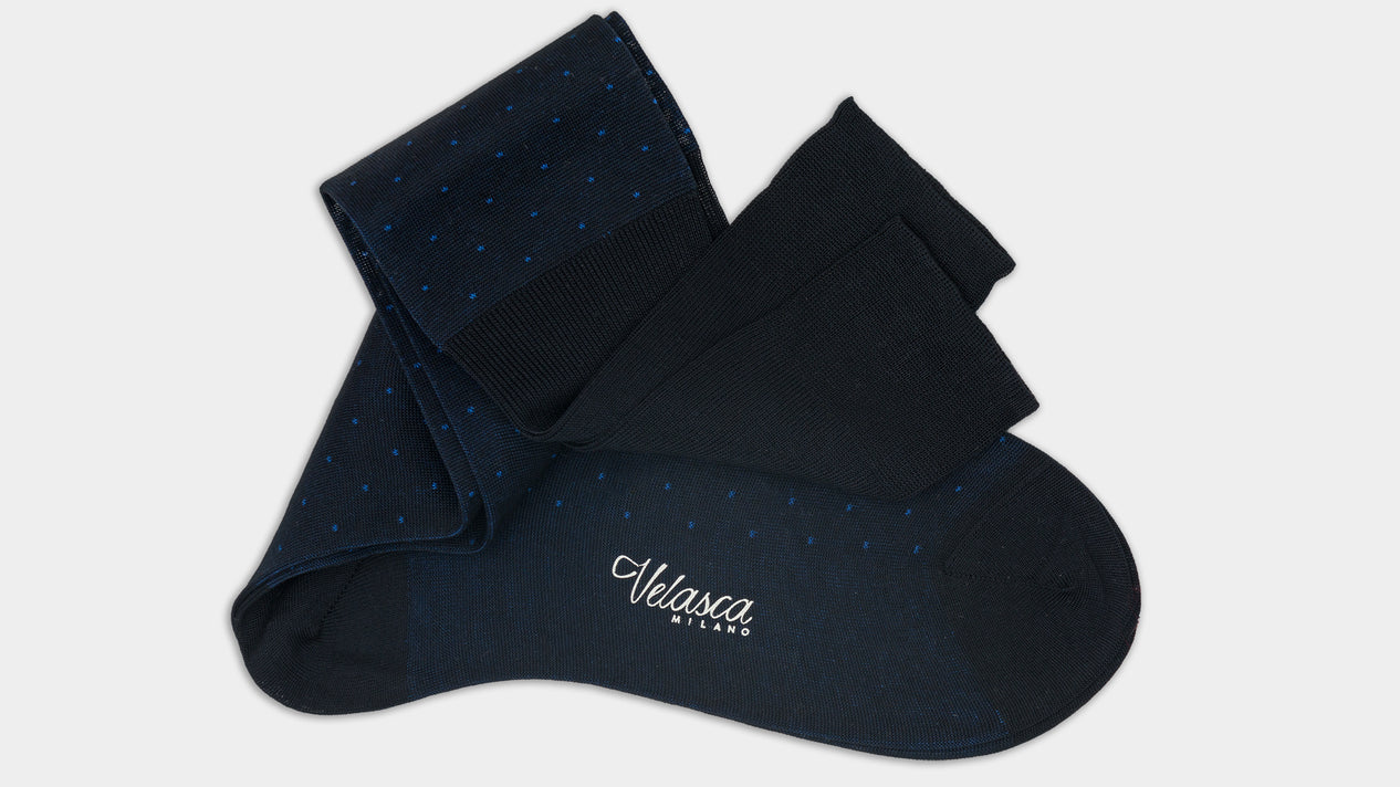 Velasca Cudun Blue & light blue pin dots Cotton