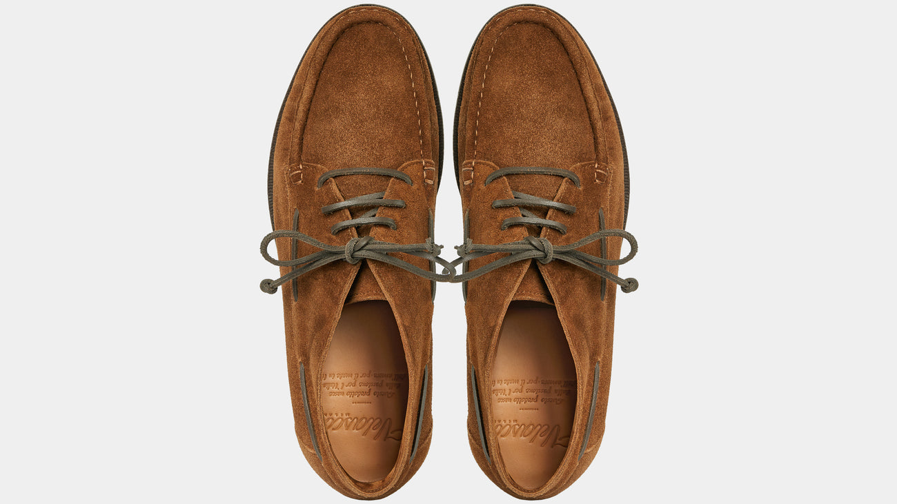 Velasca Fironatt Tobacco brown Suede leather