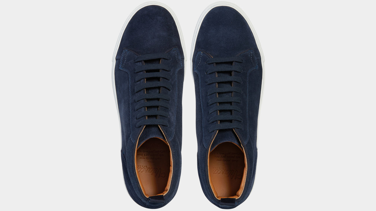 Velasca Ghisa Blue Suede leather