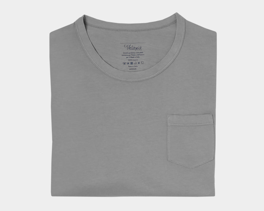 Velasca T-shirts Gugin Dark gray 100% cotton