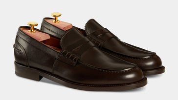 59e7b09c087 Made in Italy men s leather Penny Loafers